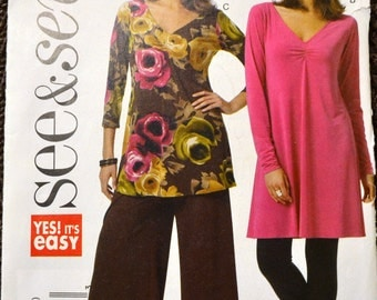 Sewing Pattern Butterick 5375 Misses' Dress, Tunic, and Pants  Bust 29-36 UNCUT Complete