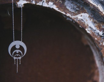 Crop Circle Diamond Necklace