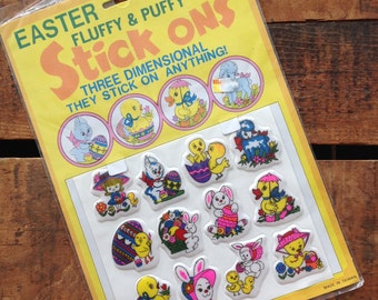 Vintage Easter Puffy Stickers (Stick-Ons)
