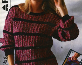 Ladies Sweater 3 Styles 3 Different Looks, Knitting Pattern, 1970 (PDF) Pattern, Patons 8469