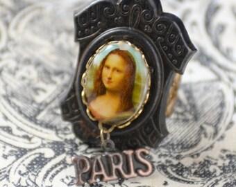 Mona Lisa Ring, Paris Inspired Ring, Renaissance Jewelry, Leonardo Da Vinci, Mona Lisa Jewelry, French Charms Ring, SRAJD