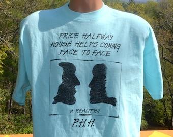 vintage 80s t-shirt PRICE halfway house juvenile detention rehab tee shirt Large XL ft myers florida