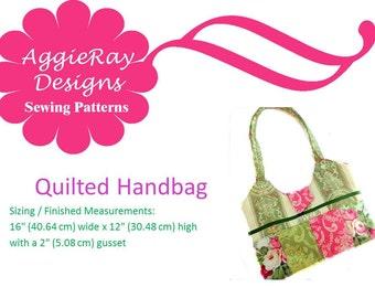 INSTANT DOWNLOAD pdf Sewing PatternQuilted Handbag