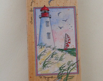 Rubber Stamp A friendly Light 80150