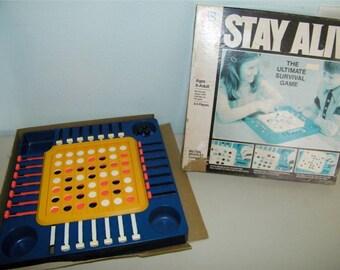 Vintage Stay Alive Game 1970's 11145 Milton Bradley