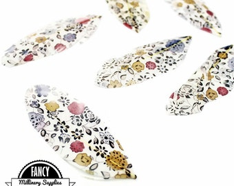6 - Printed - Victorian - Boho - Floral Print - Perfect for Earrings, Bridal Table Decor & Millinery