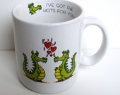 Dragons Coffee Cup, Dragons Love Coffee Cup, gift idea, Coffee Mug, Hots For You, Vagabond Creations, Collectibles, Love Mug, Papel, Vintage
