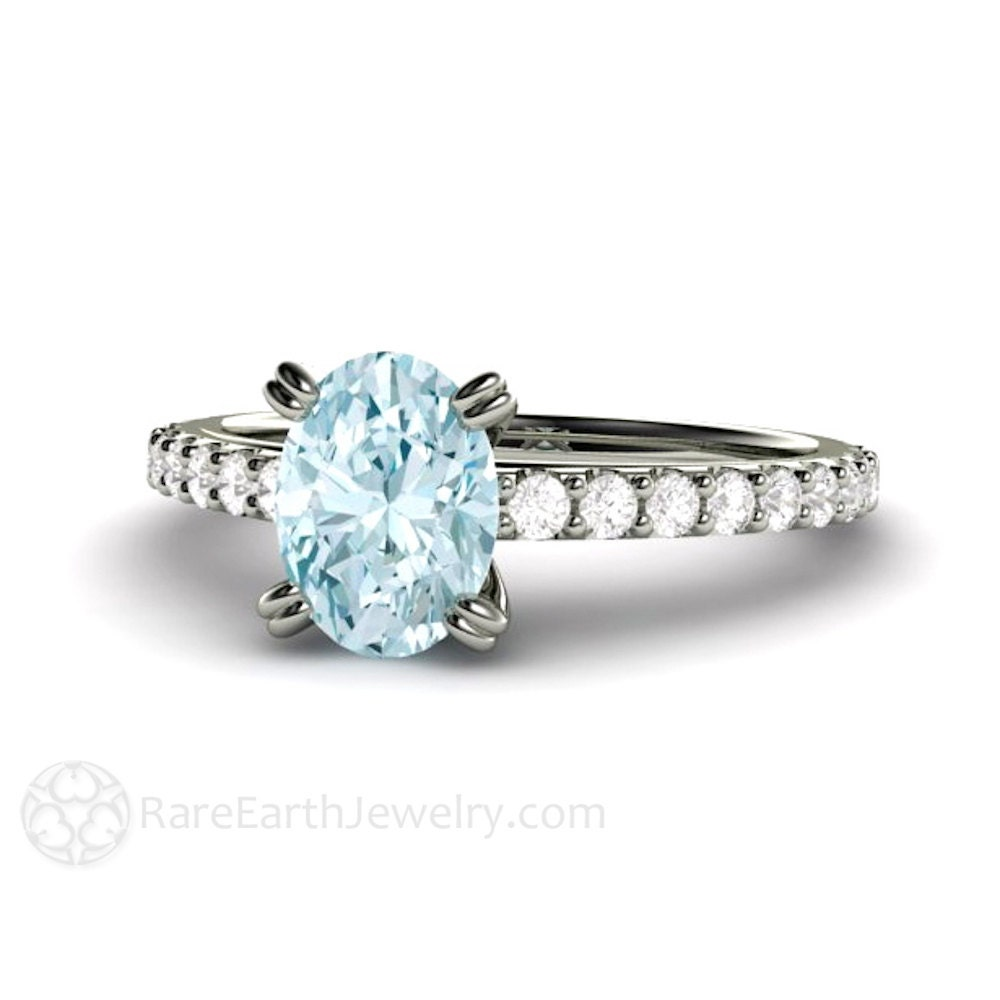 aquamarine ring aquamarine engagement ring aqua ring diamond. Black Bedroom Furniture Sets. Home Design Ideas