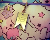 She believed... FAUXDORI CHARM gold mirror flag acrylic laser cut