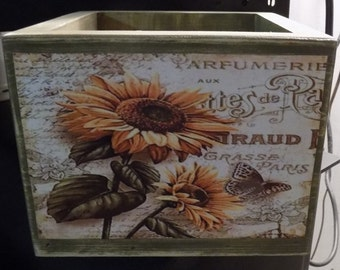 Sage Green and Sunflower Great Wooden Boxes Unlimited Usage with these
