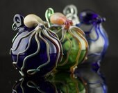 Octopus Hand Blown Ornament in You Choose the Color, Made to Order