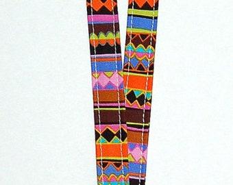 Multi-Colored Aztec Stripe Lanyard (Ready To Ship)