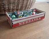 Nebraska License Plate Tray - Vintage Repurposed Treasure Box - Planter - Free Shipping