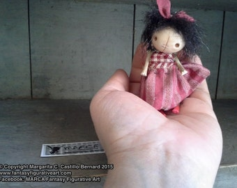 "Primitve art doll accessory BJD prop miniature creepy cute ""IDGY"" party favor"