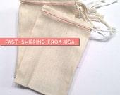 """100 bulk 8"""" x 10"""" Premium MUSLIN BAGS,  Drawstring Bags, natural cotton muslin bags, potpourri sachet, stamping, packaging, DIY party favor"""