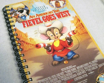 An American Tail Fievel Goes West Notebook - Spiral Bound VHS Notebook