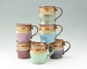 Sweet Heart ID Custom Name Coffee Mug, Personalized Pottery Mug, Pot Belly 16 oz Mug, Sold Singly, Color Choice, 4-6 Weeks Make to Order