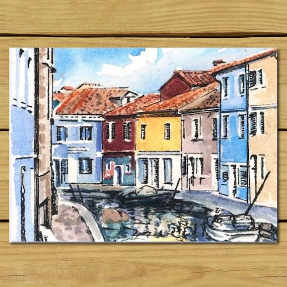 Burano Venice Italy Home Decor Home Art Room Art By 3streetart