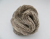 Blue Face Leicester Yarn Hand Spun Worsted Single Ply 4.1 oz Gray