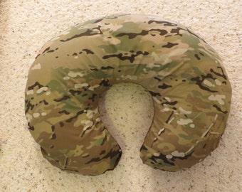 Multicam Camo minky backed EMIJANE Nursing pillow cover - fits Boppy