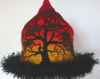 Custom Order your own personal Australian Sunset Silhouette Crochet  Hat Beanie