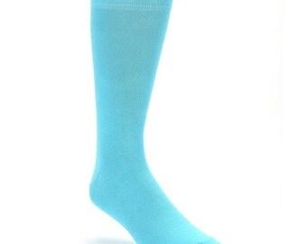 Davids Bridal Pool Blue specialty color grooms socks, groomsmen socks, wedding gift, bridal party