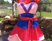 Cosplay Princess Mulan Inspired Sassy Apron, Anime, Kids Costume,  Womens Aprons, Plus Sizes, Kitchen, Steampunk, Comicon, Girls Aprons