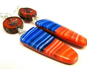 CLEARANCE 50% OFF Polymer Clay Earrings - Sweet Summertime Collection - American Summer Earrings