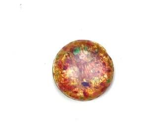 Glass Cabochons Czech 13mm Fire Opal (1) GC070