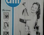 Vintage 1950's Drum Major Magazine , March 1959, Drum Majorettes, Acrobatic Dancers, Twirlers, Cheer Leaders, Dancers, Marching Band School
