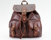 Leather Backpack in Dark Brown/ Leather Backpack / Women's Backpack /Leather Bag /Leather Satchel / Brown Backpack / Brown Leather Bag