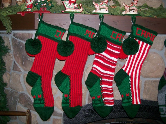 Special order for a set of four personalized old fashioned for Fashion christmas stockings