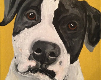 Custom Dog Portrait, 8 x 10 Custom Dog Portrait, Custom Dog Painting, Custom Pet Portrait, Pet Memorial, Gift for Dog Lover, Pet Painting