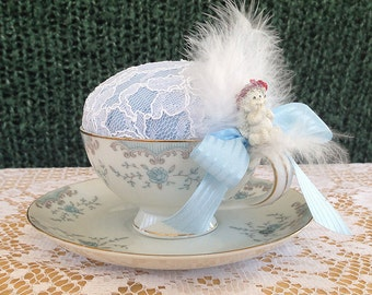 Serafina...Teacup Pincushion