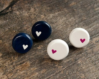 Lonely Heart Stud Earrings