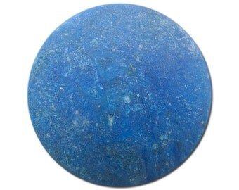 Vintage Matte Marbled Lapis Blue Acrylic Cabochons 30mm (4) cab815B