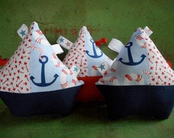 Nautical Sailboat Tag Toy