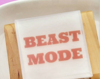 Runner Gift. Womens Sport SOAP, Beast Mode, Womens Sport Gifts, Fitness Instructor Gift. Workout reminder. Gift for coaches. Yoga