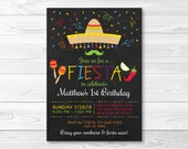 Fiesta Birthday Invitatio...