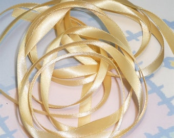 CHAMOIS DouBLe FaCeD SaTiN RiBBoN, Polyester 1/4 inch wide, 5 Yards