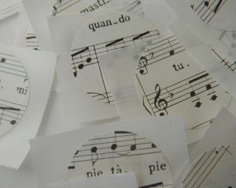 Vintage Music Sheets stickers/seals