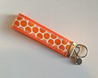 Orange Dot Key Fob, FREE SHIPPING
