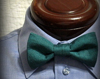 teal mens bow tie, pre-tied bow tie, boys bow tie, toddler bow tie, baby bow tie, teal oxford cloth, 2 for 25, adjustable neck bow tie