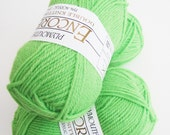 GREEN Plymouth Encore DK Double Knitting Weight Color 3335 Lime Apple Green Yarn