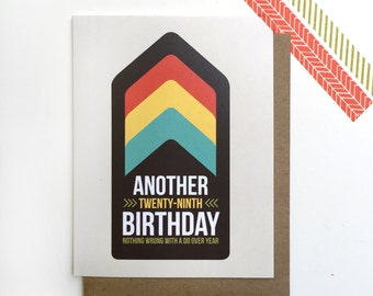 Funny 30th Birthday card - Another 29th birthday - digital download