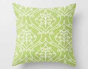 Green Pillow Cover Decorative Pillow Kiwi Green Pillow Size Choice Accent Pillow
