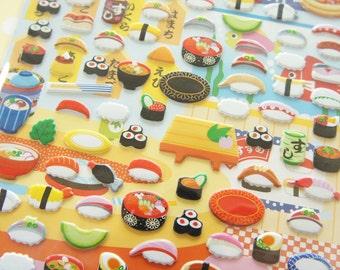 1 Sheet  Sushi Stickers
