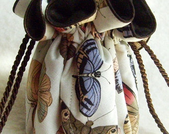 Anti Tarnish Jewelry Pouch Bag in Butterfly print