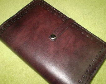 Dark Mahogany Leather Journal Cover
