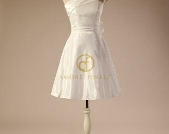 Amazing Short One Shoulder Wedding Dress